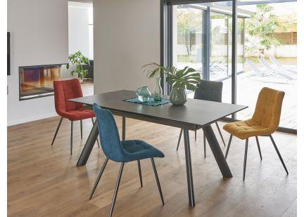 LAVANDOU - Table Rectangulaire en céramique