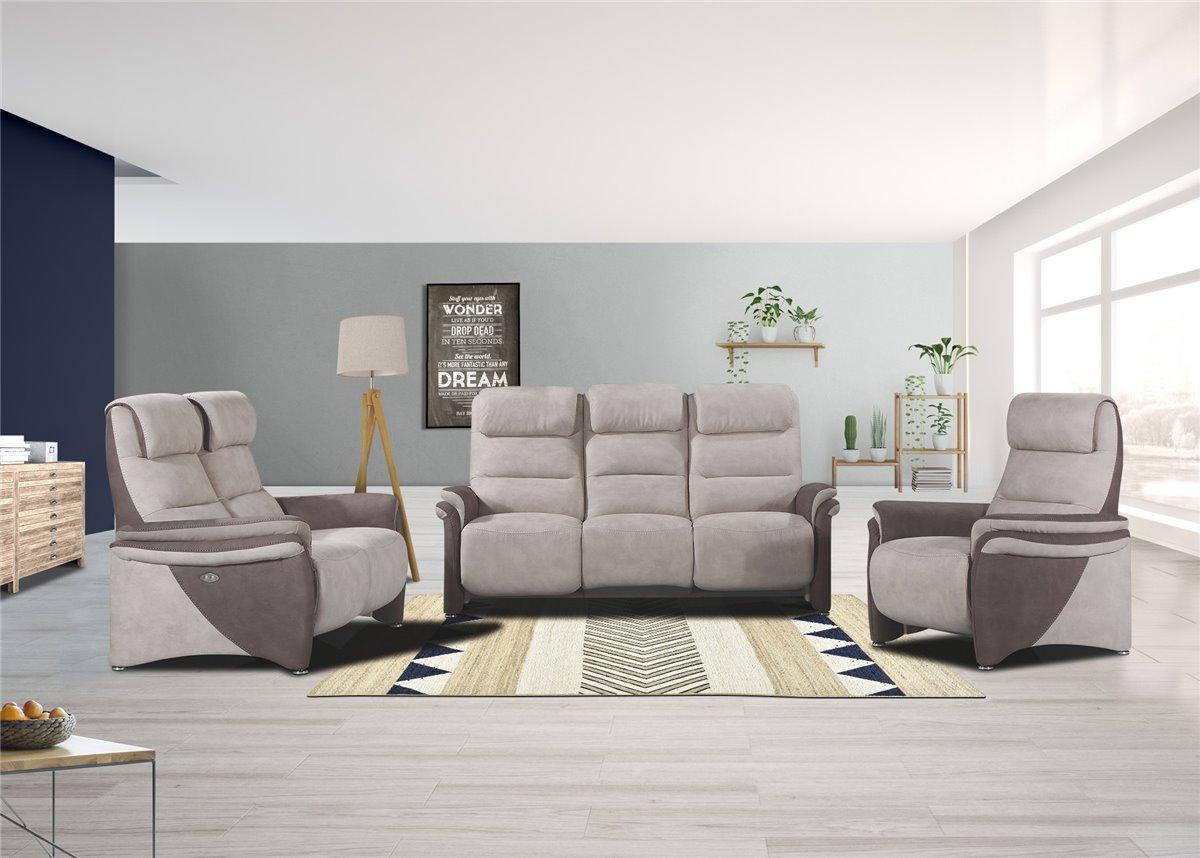 Canapé relax en cuir de qualité et  prix d usine Conforeco