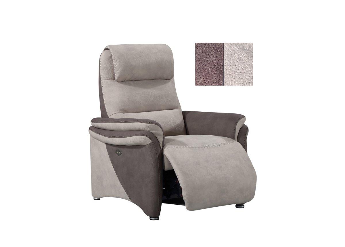 Soft confort canap 3 places relax manuel en tissu de for Canape relax 3 places tissu