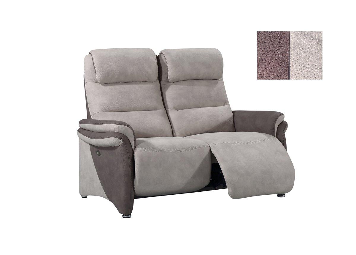 Soft confort canap 3 places relax manuel en tissu de qualit - Canape relax tissus 3 places ...