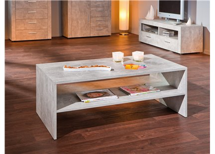 ANNA - Table Basse Rectangulaire effet Beton