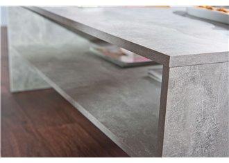 ANNA - Table Basse Rectangulaire effet Beton