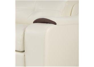 BRIANA - Canapé d 'angle en Cuir Avec Assises Coulissantes