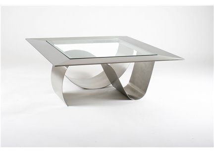 ULTIMETE - Table Basse Carré en Inox