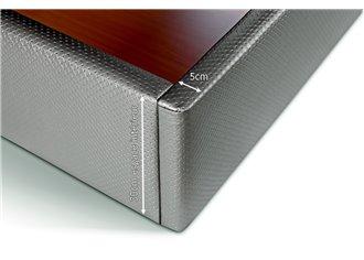 ELSA - Lit Coffre en 140x190cm en Tissu ou simili cuir à personnaliser