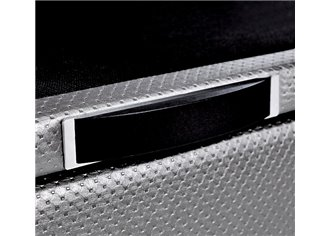 ELSA - Lit Coffre en 90x190cm en Tissu ou simili cuir à personnaliser