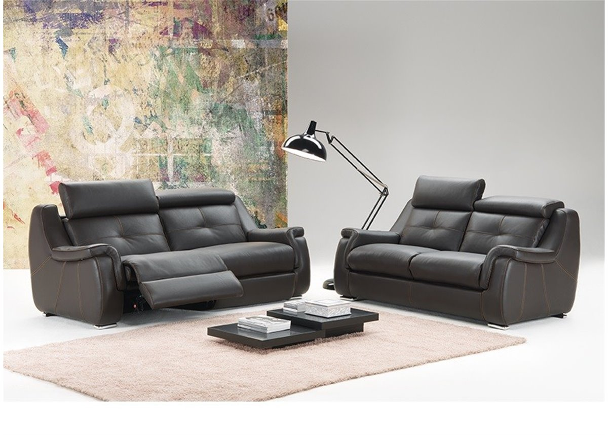 babylone canap 2 places relax manuel en cuir de. Black Bedroom Furniture Sets. Home Design Ideas