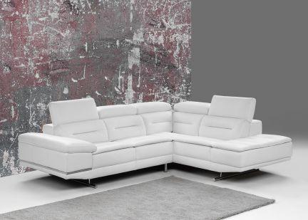 FRIDAY - Canapé d'angle Fixe 100% Cuir