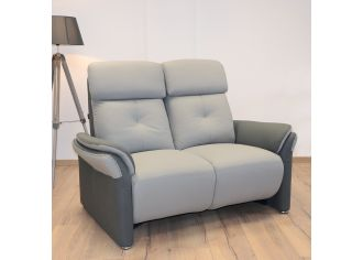 ESPRIT - Canapé 3 places Relax Electrique + Têtières Electrique + Tablette Centrale + USB en Tissu