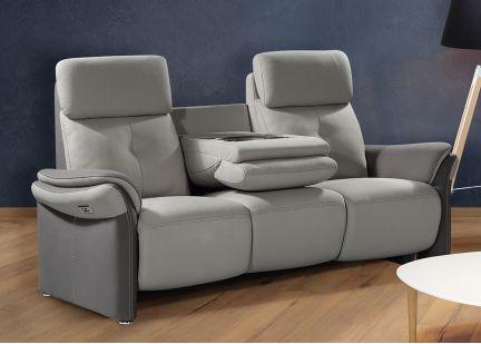 ESPRIT - Canapé 3 places Fixe avec Tablette Centrale en Tissu