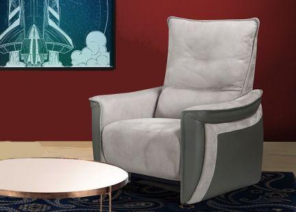 APOGEE - Fauteuil Relax Electrique en Tissu