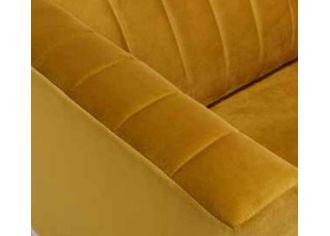 TINA - Canapé 2 places Fixe en tissu et/ou simili cuir