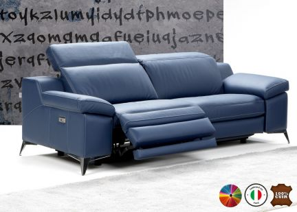 PANDORA - Canapé 3 places Maxi Relax Electrique 100% Cuir