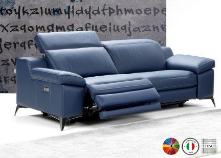 PANDORA - Canapé 3 places Maxi Relax Electrique en Tissu