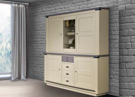 MAGELLAN - Buffet Haut  6 portes et 1 tiroir