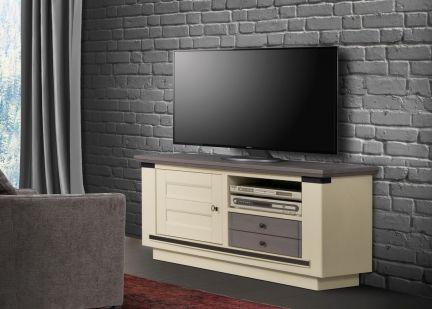 MAGELLAN - Meuble TV 1 porte 1 tiroir et 1 niche