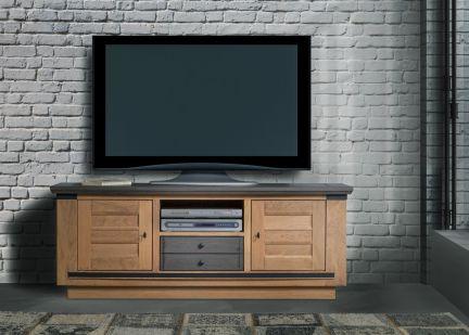 MAGELLAN - Meuble TV 2 portes 1 tiroir et 1 niche