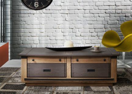 MAGELLAN - Table Basse 2 tiroirs va et vient