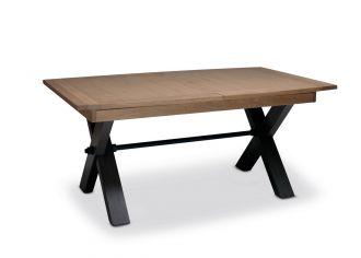 MAGELLAN - Table pieds X en 200cm en Bois avec 2 allonges Bois