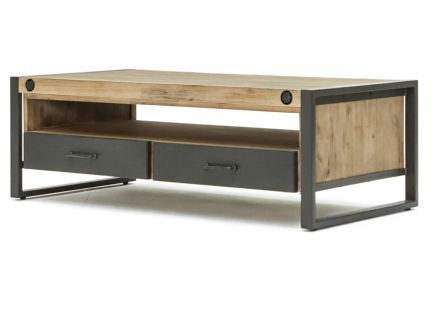 LOFT - Table Basse 2 Tiroirs & 1 Niche