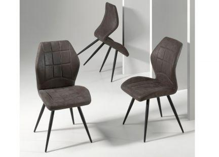 DUFFY - Chaise en Tissu et pieds Métal