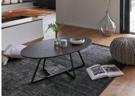 TORONTO - Table basse ovale en Céramique et Métal