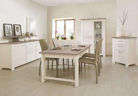 Salle à manger chêne blanchi